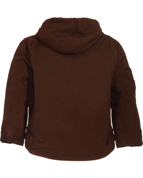 Berne Toddler Boys' Washed Sherpa-Lined Hooded Jacket, Bark, hi-res