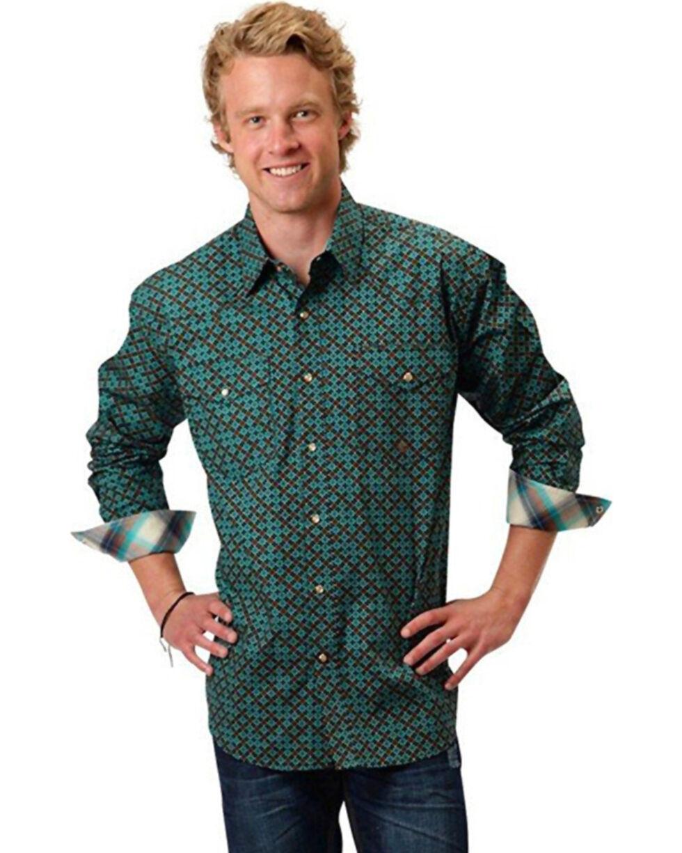 Roper Men's Astro Diamond Long Sleeve Shirt, , hi-res