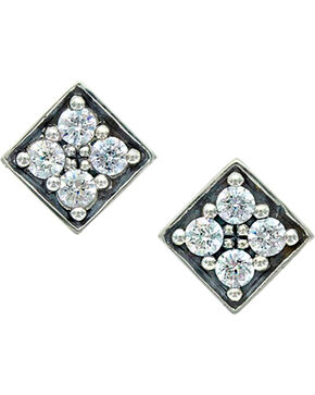 Sterling Lane Women's Starlight's Core Stud Earrings , Silver, hi-res