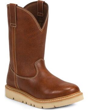 Justin Men's Jacknife Western Work Boots, Tan, hi-res