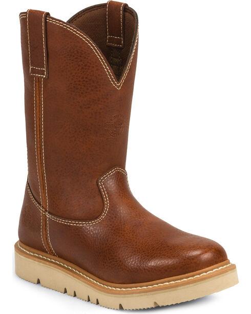 Justin Men's Jacknife Western Work Boots, Tan, hi-res