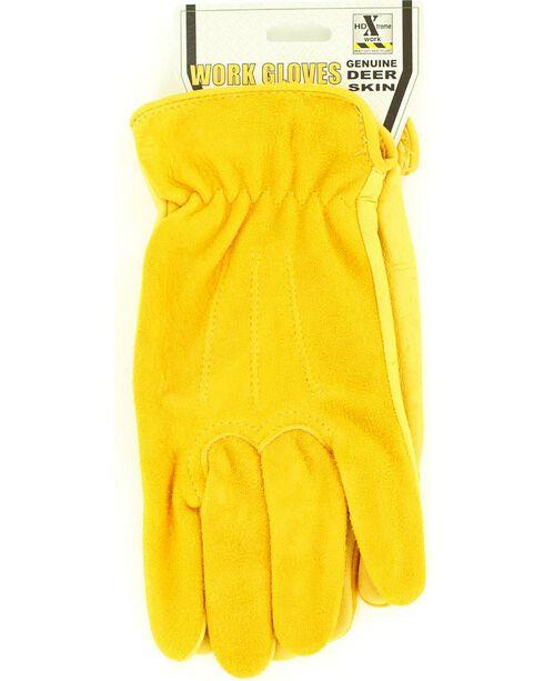 HD Xtreme Suede Deerskin Gloves, Tan, hi-res
