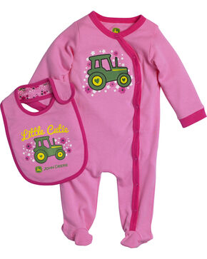 John Deere Infant Girls' Little Cutie Set, Pink, hi-res
