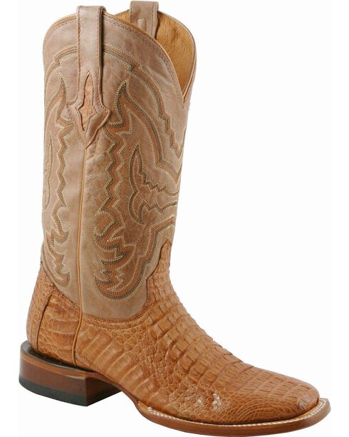 Lucchese Men's Exotic Caiman Western Boots, Tan, hi-res
