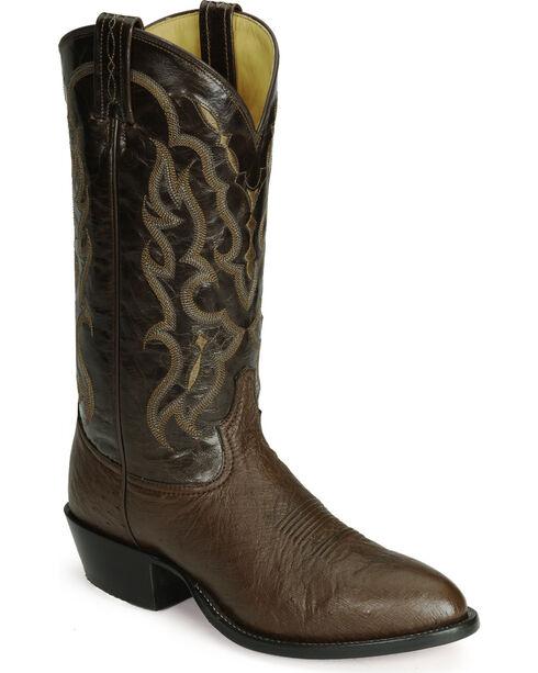 Tony Lama Men's Smooth Ostrich Exotic Western Boots, Tobacco, hi-res