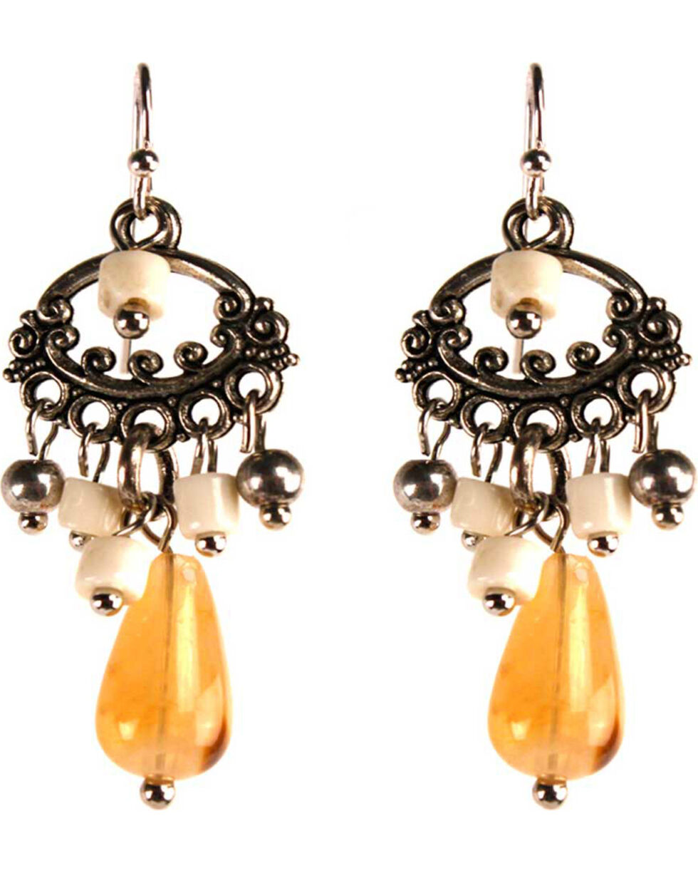 Treska Women's Small Chandelier Earrings, Tan, hi-res