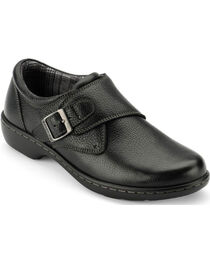 Eastland Women's Black Anna Monk Strap Slip On , , hi-res