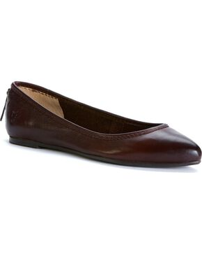 Frye Women's Regina Ballet Flats - Round Toe, Dark Brown, hi-res
