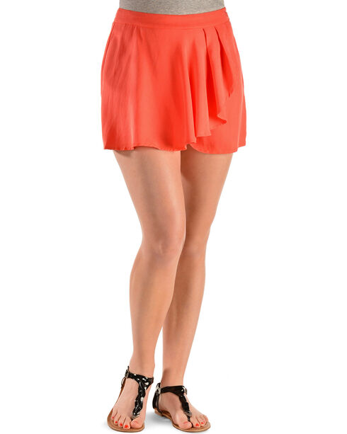 Miss Me Women's Drape Wrap Skort, Rose, hi-res