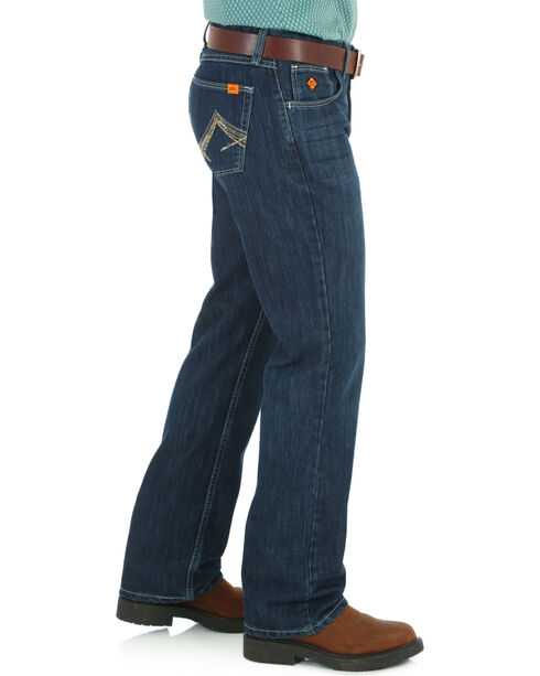 Wrangler Men's Indigo FR 20X Vintage Jeans - Boot Cut , Indigo, hi-res