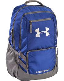 Under Armour Royal Blue Storm Hustle II Backpack , , hi-res