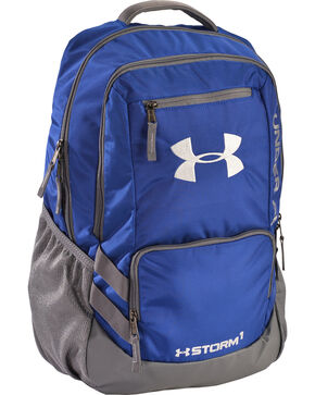 Under Armour Royal Blue Storm Hustle II Backpack , Royal, hi-res