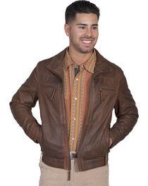 Scully Men's Lambskin Zip Front Jacket, , hi-res