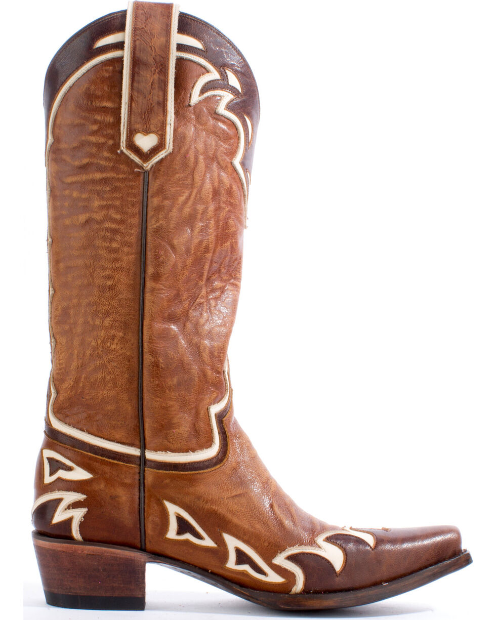 Lane Women's Back 40 Western Boots, Brown, hi-res