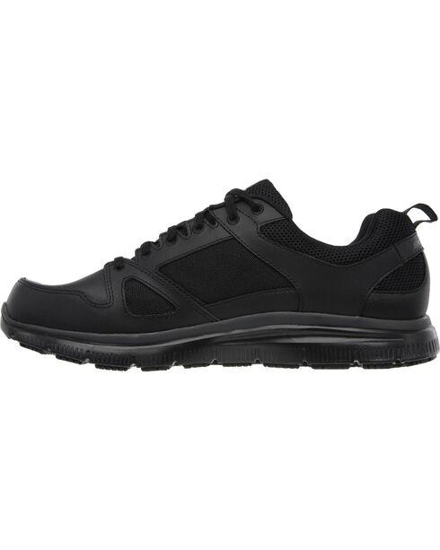 Skechers Men's Black Flex Advantage Slip Resistant Work Shoes  , Black, hi-res