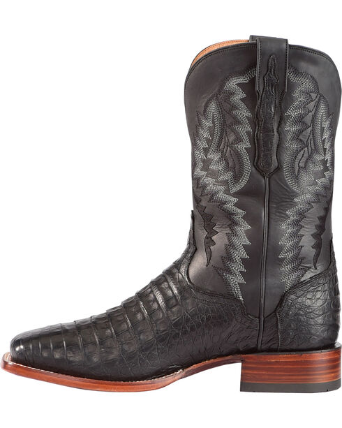 El Dorado Men's Caiman Belly Stockman Boots - Square Toe, Black, hi-res