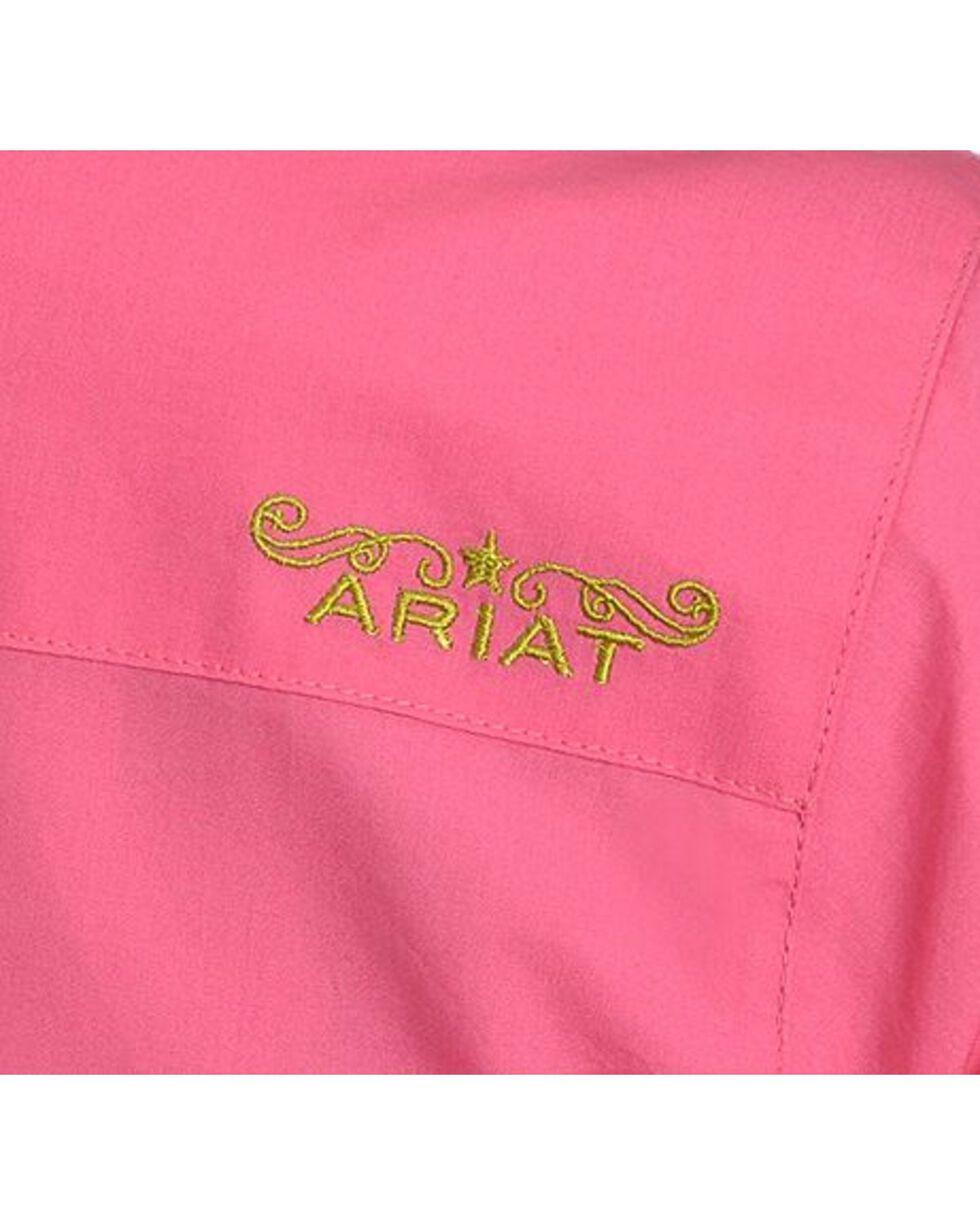 Ariat Pink Poplin Shirt, Pink, hi-res