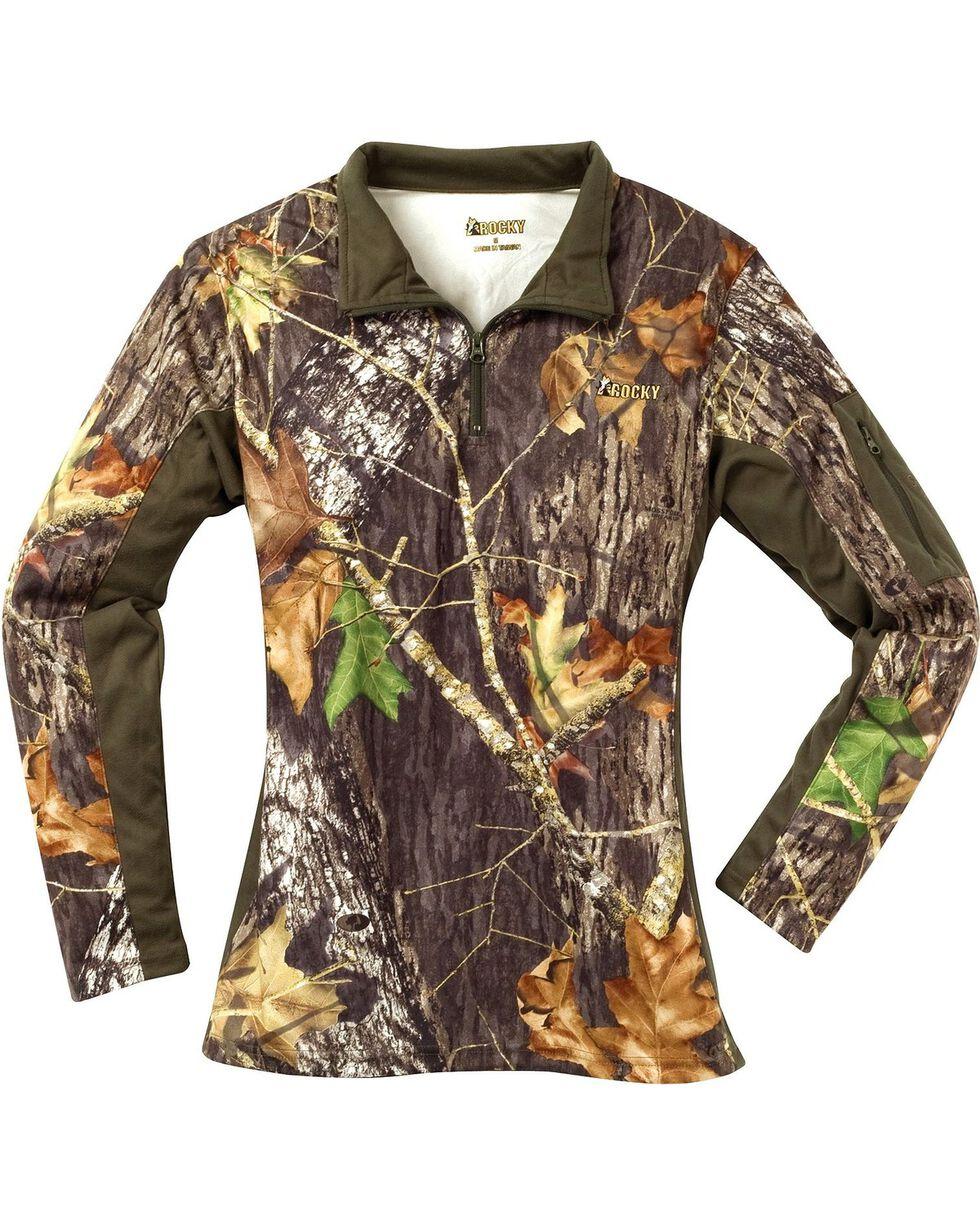 Rocky Women's SilentHunter Zip Shirt, Mossy Oak, hi-res
