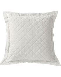 HiEnd Accents Diamond Pattern Quilted White Euro Sham, , hi-res