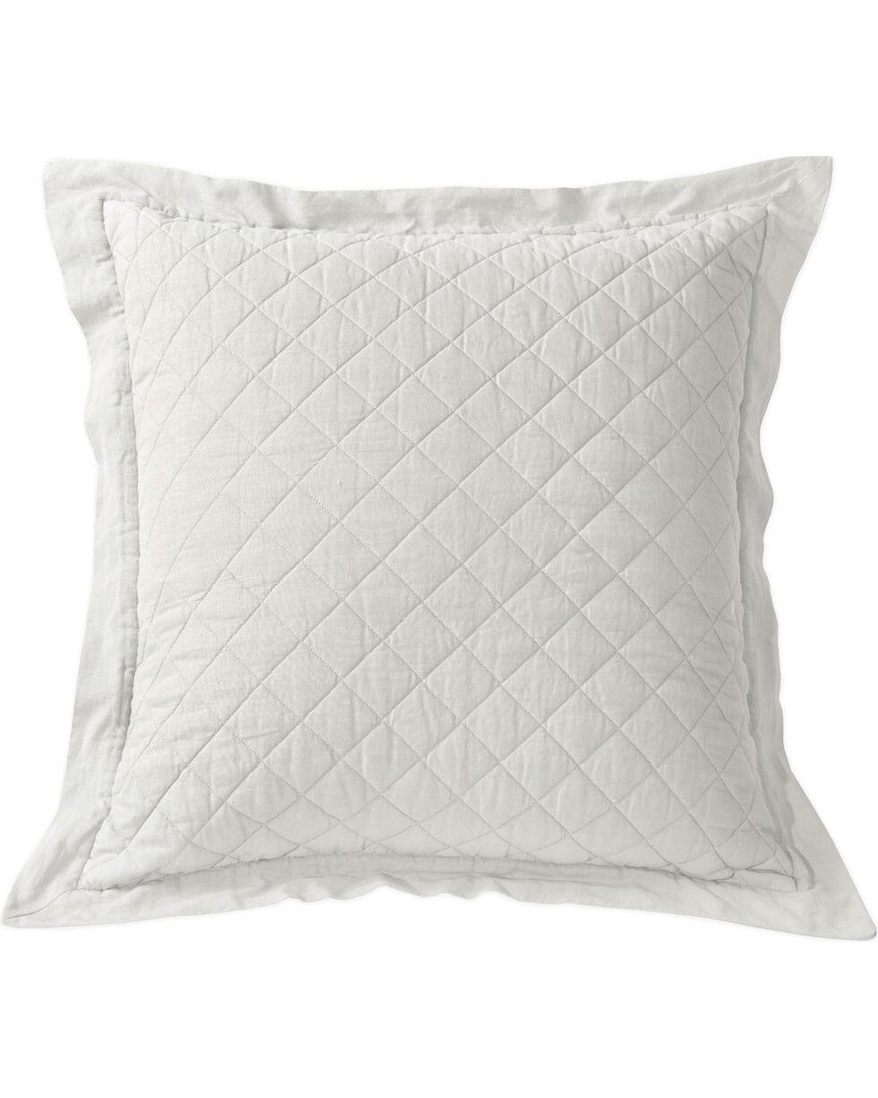 HiEnd Accents Diamond Pattern Quilted White Euro Sham, White, hi-res
