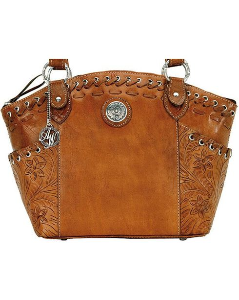 American West Women's Harvest Moon Bucket Tote, Brown, hi-res