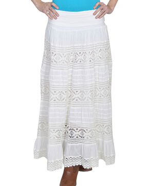 Scully Women's Yoga Knit Skirt, Ivory, hi-res