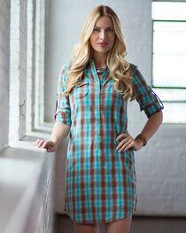 Ryan Michael Women's Ombre Plaid Shirt Dress, , hi-res