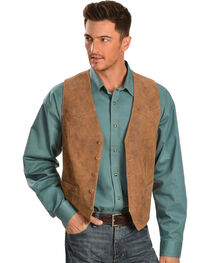 Scully Lamb Leather Western Vest, , hi-res