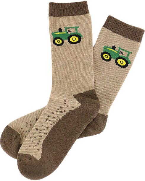 John Deere Kids' Dirt Socks, Brown, hi-res