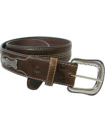 Roper Men's Brown Concho Belt , , hi-res