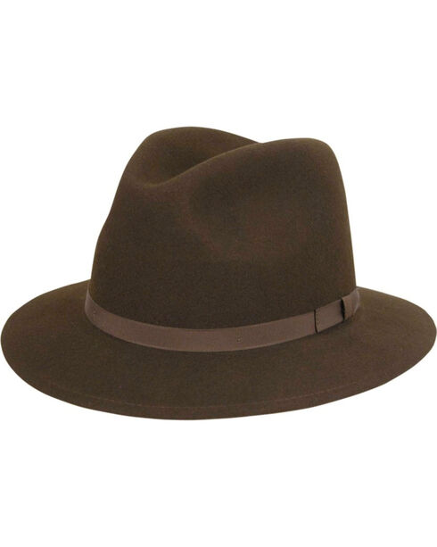 Country Gentleman Wilton Felt Fedora, Brown, hi-res
