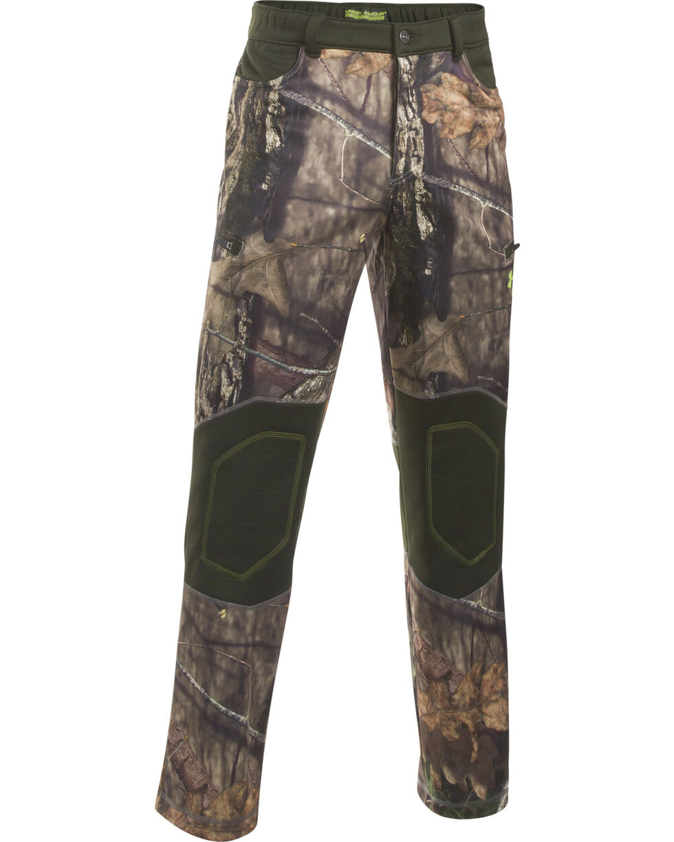 Under Armour Men's Scent Control Armour Fleece Pants, Mossy Oak, hi-res