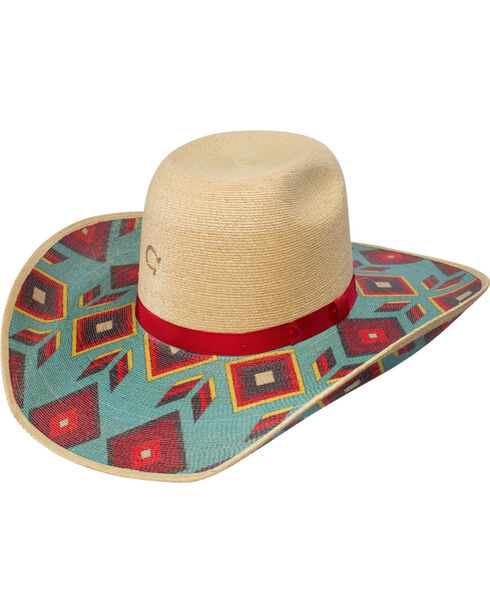 Charlie 1 Horse Women's Cowgirl Outlaw Straw Western Hat, Natural, hi-res