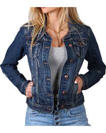 One 5 One Denim Women's Distressed Denim Jacket, , hi-res