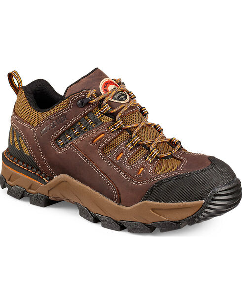 Red Wing Irish Setter Two Harbors Hiker Work Boots - Aluminum Toe, Brown, hi-res