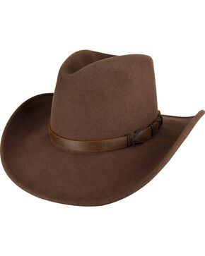 Bailey Men's Pecan Crockett Hat , Pecan, hi-res