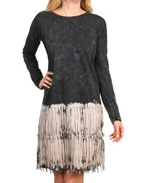 Petrol Women's Fringe Ombre Long Sleeve Dress, , hi-res