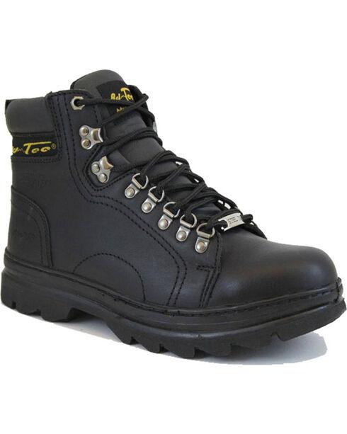 """Ad Tec Men's 6"""" Lace Up Hiker Boots, Black, hi-res"""