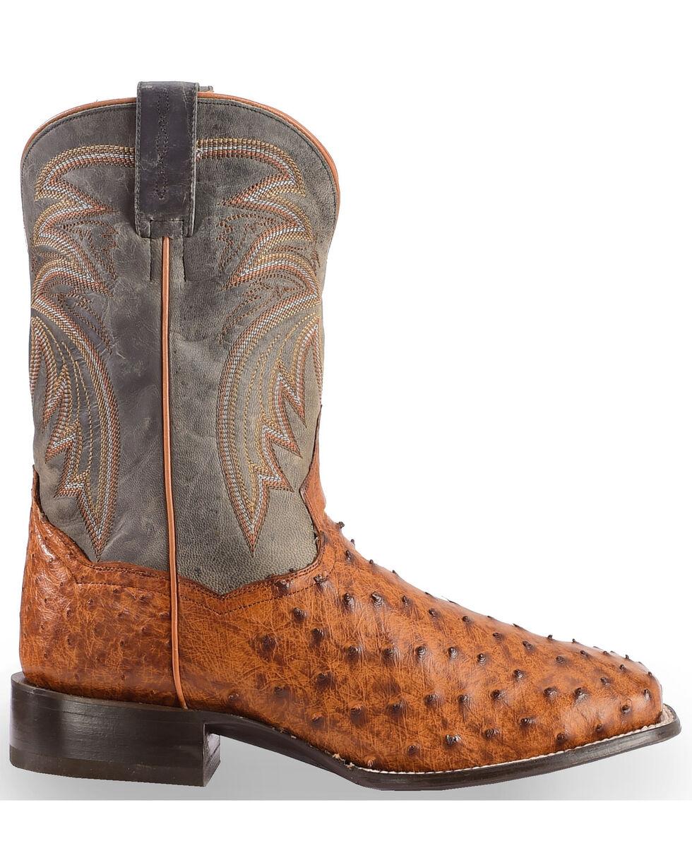 Dan Post Men's Calhoun Ostrich Exotic Boots, Cognac, hi-res