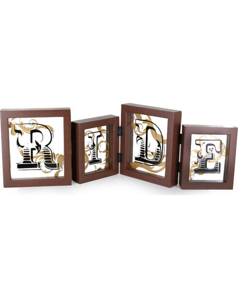 "BB Ranch ""RIDE"" Framed Wall or Table Decor, No Color, hi-res"