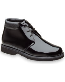 Thorogood Men's Poromeric Academy High Gloss Chukkas, Black, hi-res