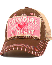 "Blazin Roxx Girls' ""Cowgirl at Heart"" Cap, , hi-res"