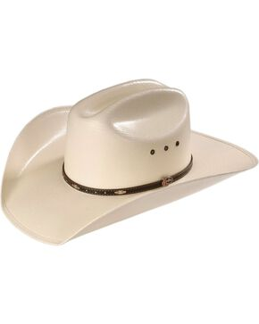 Justin Men's 20X Black Hills Straw Hat, Natural, hi-res