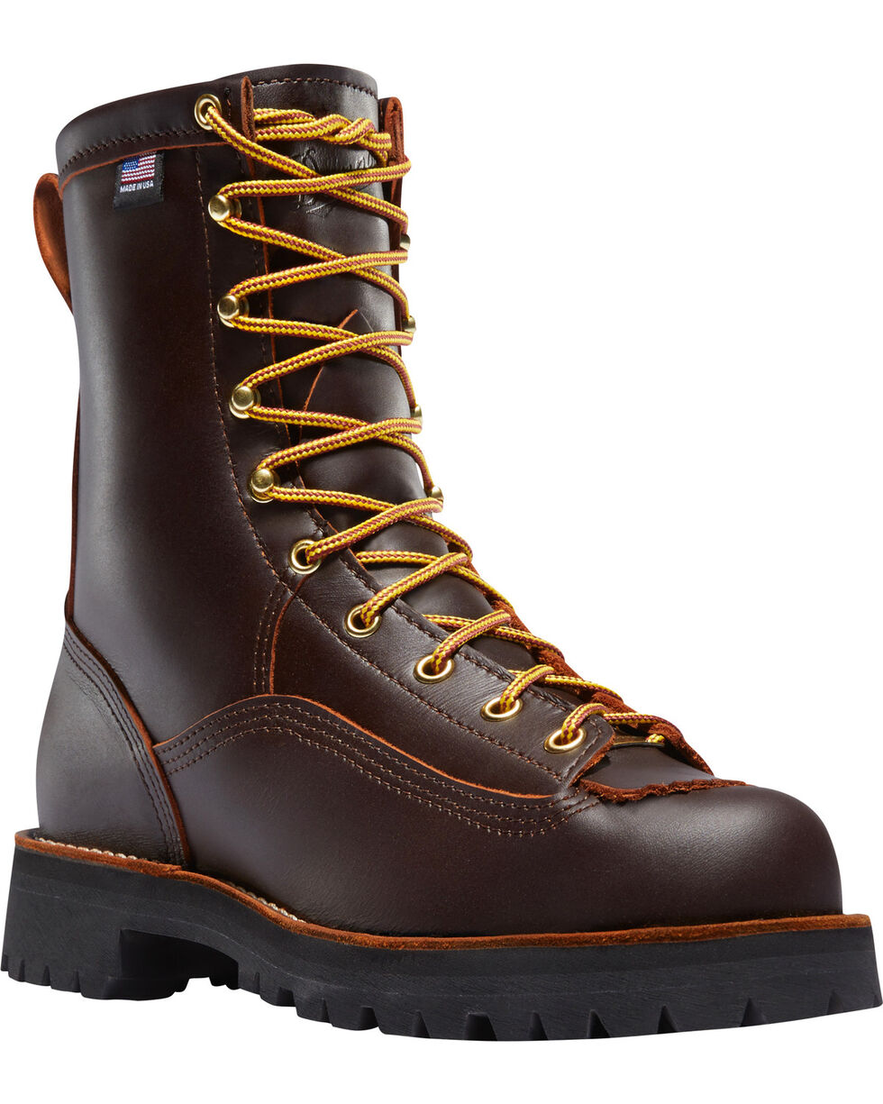 "Danner Men's Rain Forest 8"" Work Boots, Brown, hi-res"