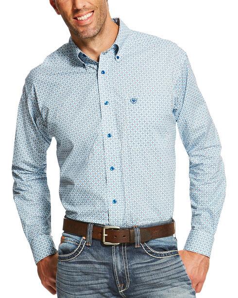Ariat Men's White Pellston Print Western Shirt , White, hi-res