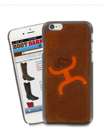Hooey Logo iPhone 6 Cell Phone Case, Brown, hi-res
