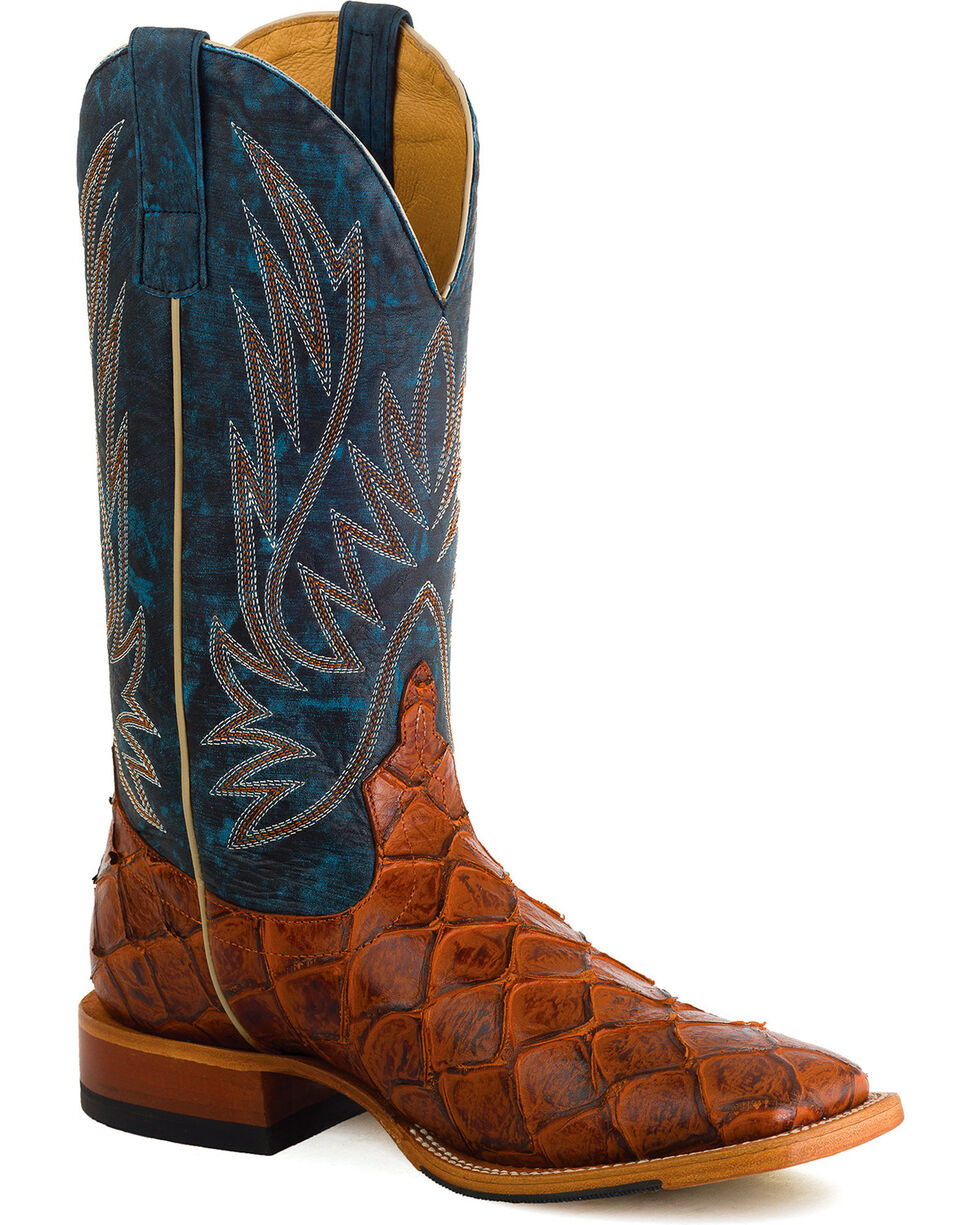 Horse Power Men's Cognac Filet of Fish Western Boots , , hi-res