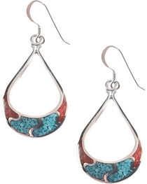 Silver Legends Women's 4 Channel Dangle Earrings , , hi-res