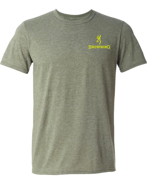 Browning Men's Green Gun Shapes Buckmark Short Sleeve Tee, Green, hi-res
