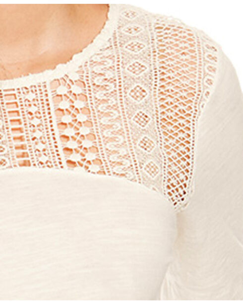 Ariat Women's Holly Lace Top, White, hi-res